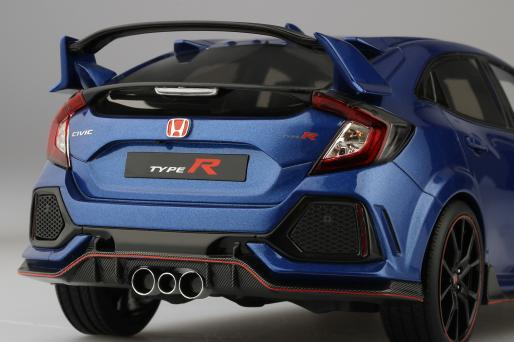 TOP SPEED 1:18 2017 Model Honda Civic Type R Brilliant Sporty Blue Metallic  2017 Honda Civic Type R By Top Speed
