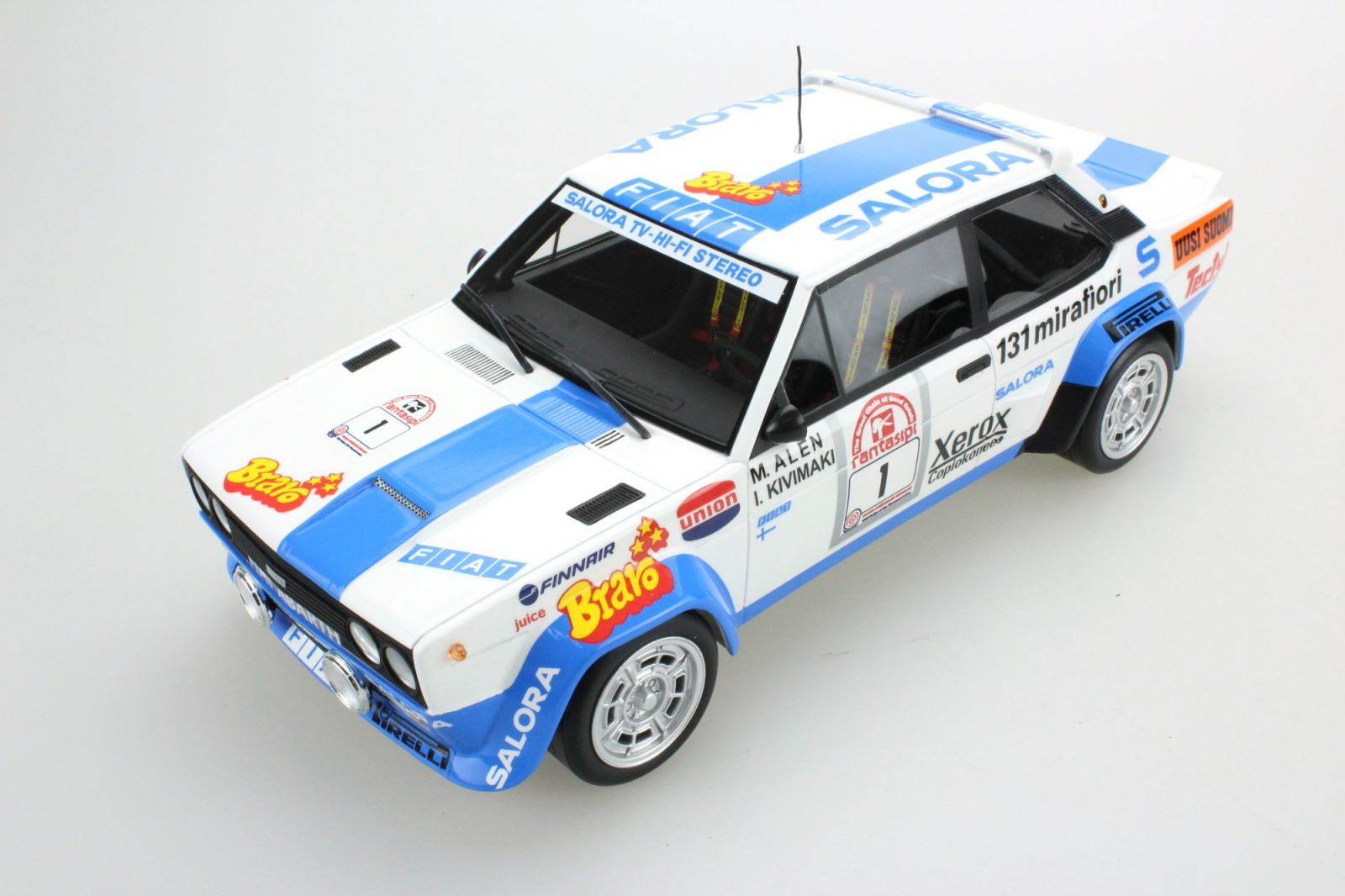 Topmarques トップマルケス 1:18 1980年1000湖ラリー フィアット 131 アバルト No.1FIAT - 131 ABARTH N 1 WINNER RALLY 1000 LAKES 1980 M.ALEN - I.KIVIMAKI 1/18 by Topmarques NEW
