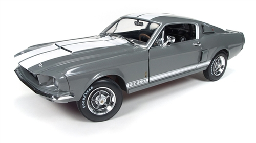 Autoworld 1/18 1967年 フォード シェルビー マスタング GT350 ミディアムグレー・メタリック1967 Ford Shelby Mustang GT-350 Medium Gray Metallic 50th Anniversary Limited Edition to 1002pc 1/18 Diecast Model Car by Autoworld