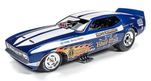 Autoworld 1:18 1971年 フォード マスタング NHRA Funny Car 1971 Ford Mustang Blue Max Richard Tharp Funny Car Limited Edition to 750pcs 1/18 Model Car by Autoworld