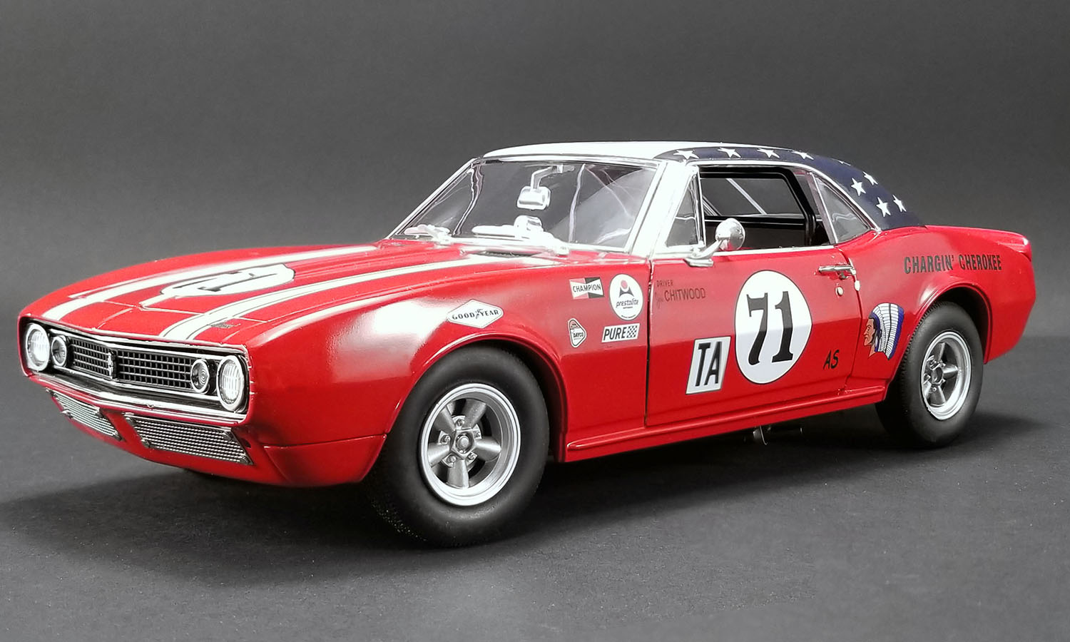 ACME 1:18 1968年デイトナ24時間 1967年モデル シボレー カマロ No.711967 CHEVROLET CAMARO - JOIE CHITWOOD - 1968 DAYTONA 24 HOURS 1/18 by ACME USA