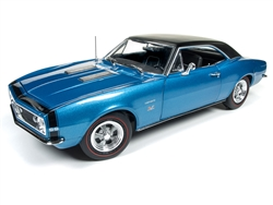 Autoworld 1:18 1967年モデル シボレー カマロ SS 427 Baldwin Motion ブルー1967 Chevrolet Camaro SS 427 Baldwin Motion Marina Blue with Black Hardtop 50th Anniversary Limited Edition to 1002 pieces Worldwide 1/18 Diecast Model Car by Autoworld
