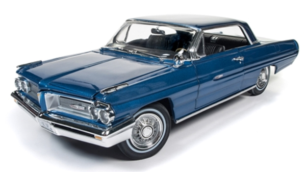 Autoworld オートワールド 1:18 1962年 ポンティアック グランプリ ブルー 1962 Pontiac Grand Prix in Ensign Blue with Black Interior 1/18 by Autoworld NEW USA