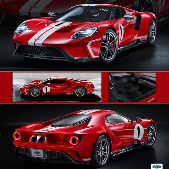 GT Spirit 1:18 2017年モデル フォード GT レッド2017 Ford GT in red w/ white Stripes in 1:18 Scale by GT Spirit NEW