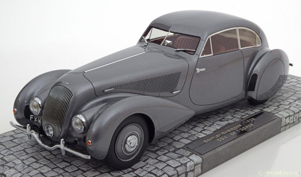 1939年モデル ベントレー エンビリコス ガンメタリック1939 Bentley Embiricos Gun Metallic 1/18 Limited to 999pc by Minichamps EUR