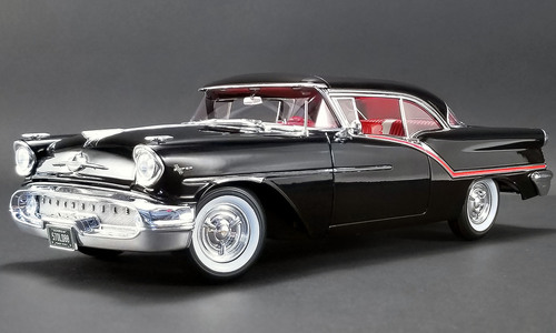 Black Red Oldsmobile スーパー88 Stripes 88 1957年モデル Model Car pieces by NEW 576 Super Diecast 1:18 ACME ブラック1957 to with Edition Acme 1/18 オールズモビル Limited Worldwide