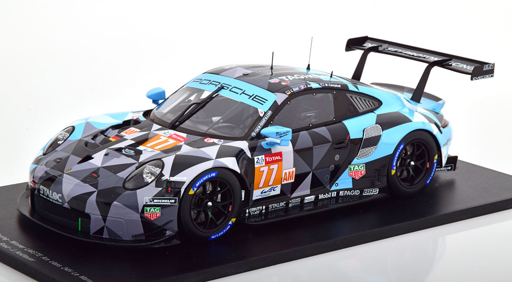 Spark 1:18スケール レジンプロポーションモデル 2018年ルマン24時間 ポルシェ 911 991 RSR No.77PORSCHE - 911 991 RSR TEAM DEMPSEY PROTON RACING N 77 WINNER LMGTE AM 24h LE MANS 2018 M.CAMPBELL - C.RIED - J.ANDLAUER 1/18 by Spark