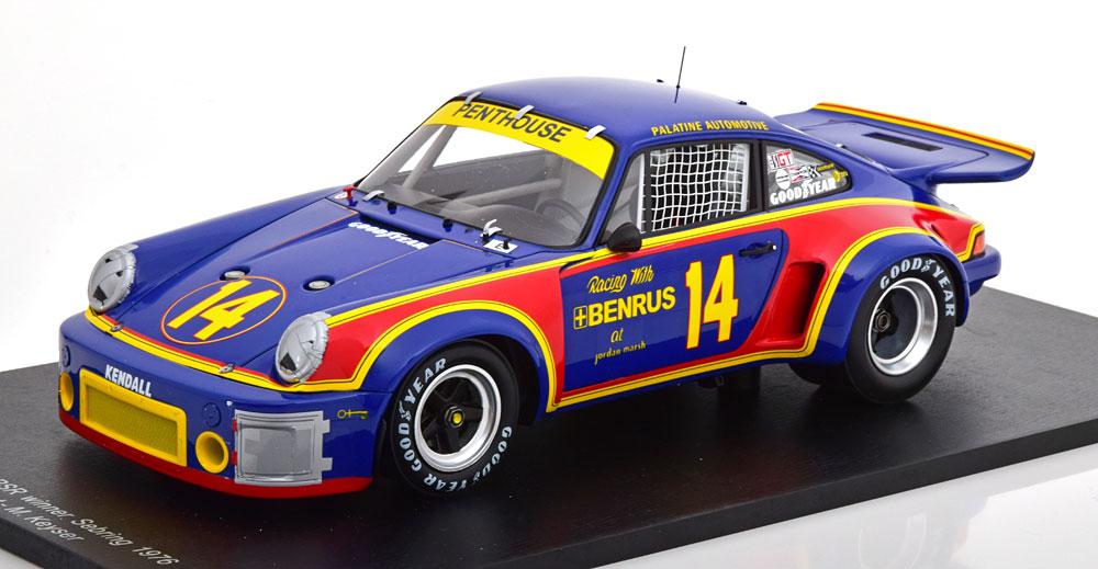 Spark スパーク 1/18 ミニカー レジン プロポーションモデル 1976年セブリング12時間 ポルシェ 911 カレラ RSR No.14PORSCHE - 911 CARRERA RSR 3.0 N 14 WINNER 12h SEBRING 1976 HOLBERT - KEYSER 1:18 Spark