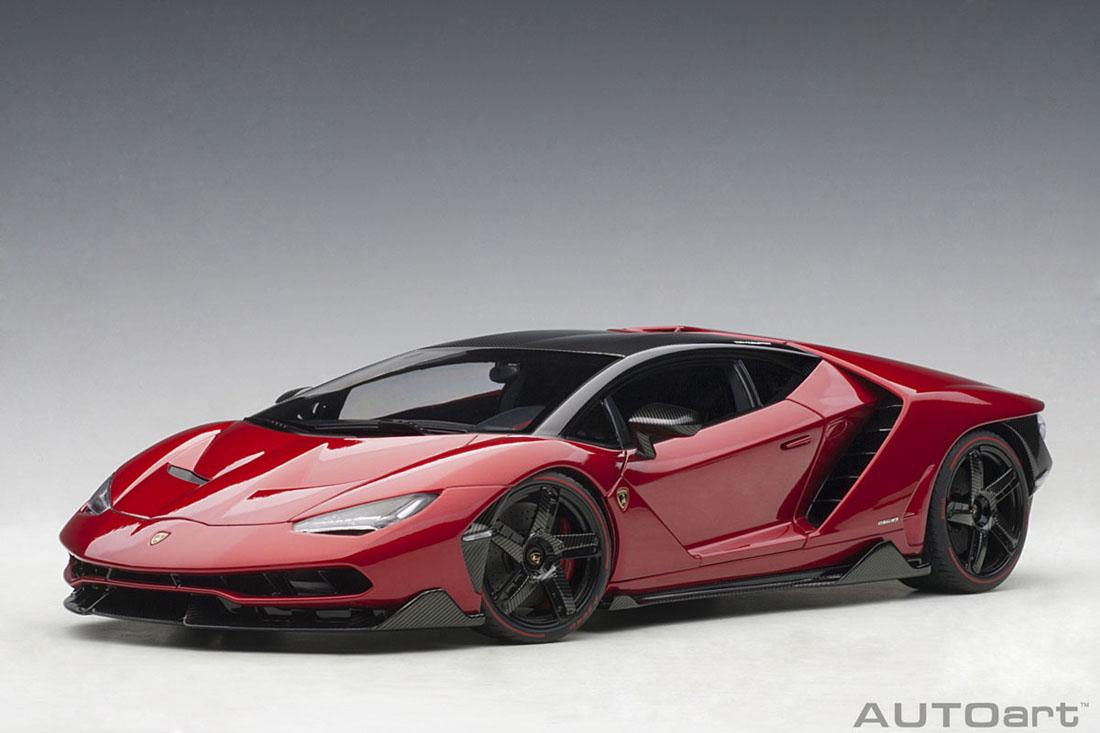 AUTOart オートアート 1/18 ミニカー ダイキャストモデル 2017年モデル ランボルギーニ チェンテナリオ メタリックレッド2017 Lamborghini Centenario 1:18 metallic red by AUTOart