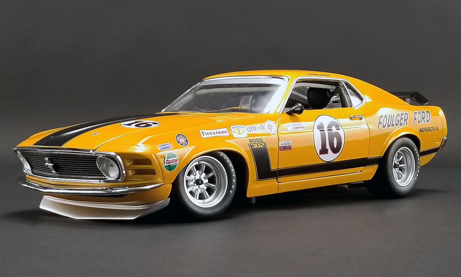 ACME 1/18 ミニカー ダイキャストモデル 1970年モデル フォード マスタング BOSS 302 Trans AM No.16 Foulger Ford#16 1970 FORD BOSS 302 TRANS AM MUSTANG - FOULGER FORD 1:18 ACME