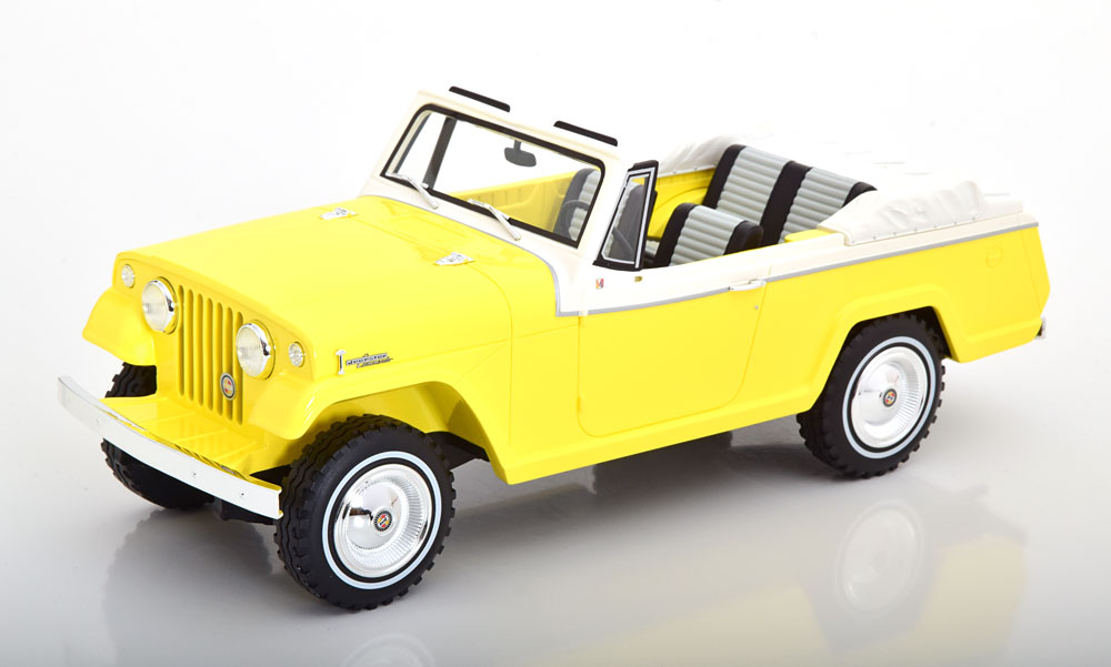 BoS Models 1/18 ミニカー レジン プロポーションモデル 1970年モデル ジープ Jeepster イエロー1970 Jeep Jeepster Commando Convertible yellow by BoS (Best of Show) Models in 1/18