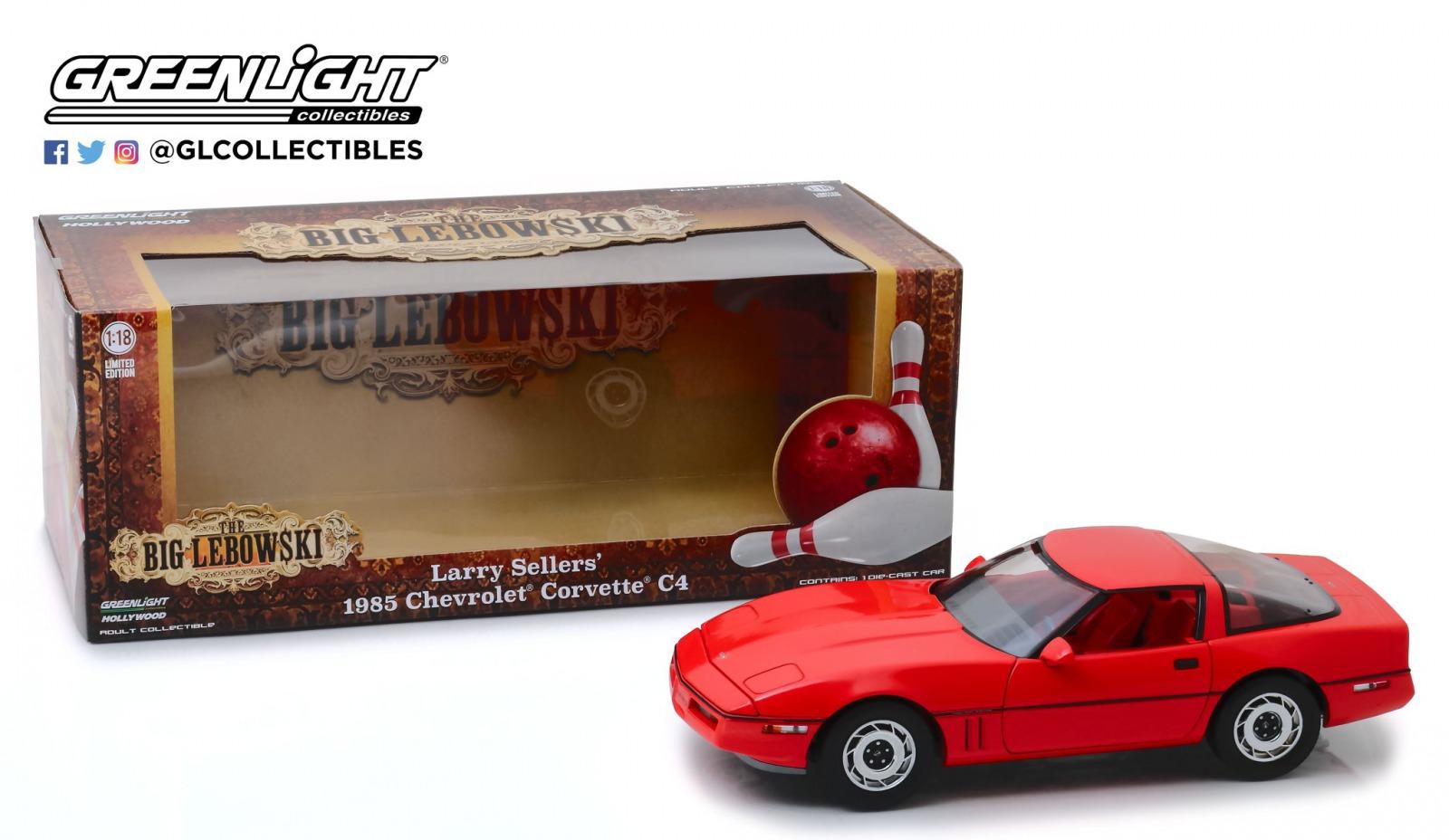 Greenlight グリーンライト 1/18 ミニカー ダイキャストモデル 映画「ビッグ・リボウスキ」1985年モデル シボレー コルベット C41985 Chevrolet Corvette C4 (Little Larry Sellers')