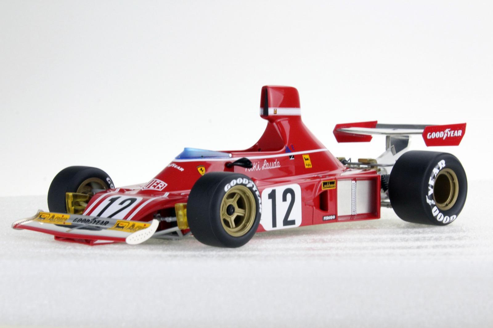 GP Replicas 1/18 ミニカー レジン プロポーションモデル 1975年シーズン フェラーリ F1 312 B3 No.12 N.LaudaFERRARI - F1 312 B3 N 12 NIKI LAUDA SEASON 1974 (AND FIRST TWO RACE 1975 WORLD CHAMPION 1975) 1:18 GP Replicas