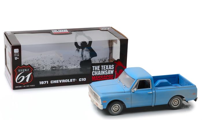 Highway 61 1/18 ミニカー ダイキャストモデル 1974年公開『悪魔のいけにえ』 1971年モデル シボレー C10 1971 Chevrolet C-10 *the Texas Chain Saw Massacre (1974)* 1:18 Highway 61