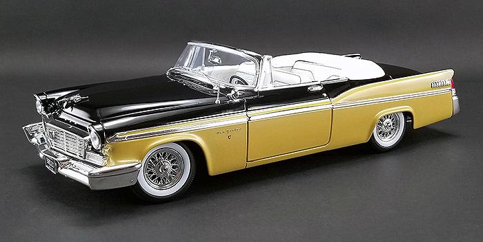 ACME 1/18 ミニカー ダイキャストモデル 1956年モデル クライスラー ニューヨーカー St.Resis コンバーティブル ゴールド・ブラック1956 CHRYSLER NEW YORKER ST. REGIS CONVERTIBLE 1:18 Nugget Gold & Raven Black by ACME