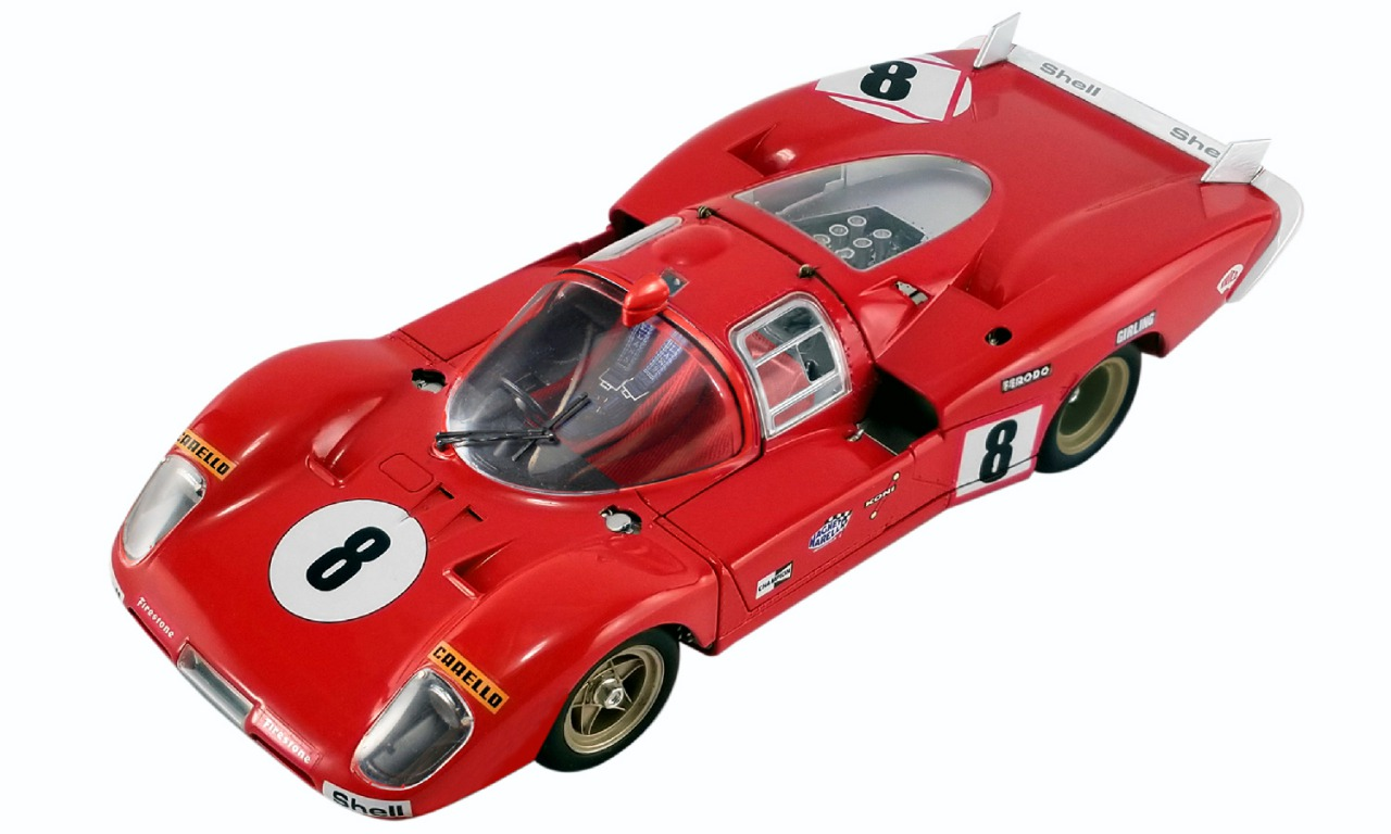 GMP 1/18 ミニカー ダイキャストモデル 1971年公開「栄光のルマン」フェラーリ 512S Longtail No.8#8 512S LONGTAIL - FROM THE MOVIE LE MANS 1:18 GMP