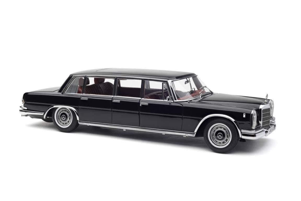 CMC 1/18 スケール ダイキャストモデル 1963年モデル メルセデスベンツ 600 プルマン リムジン (W100) 6ドア ブラックMERCEDES BENZ - S-CLASS 600 PULLMAN W100 1963 1:18 CMC