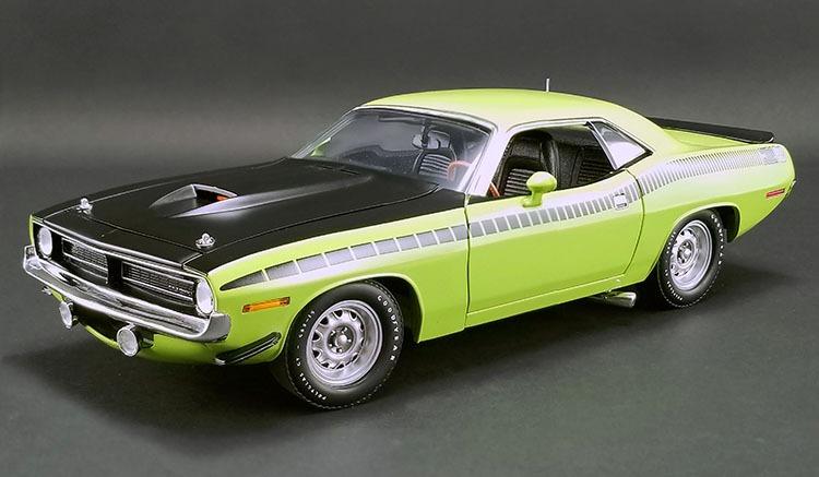 ACME 1/18 ミニカー ダイキャストモデル 1970年モデル プリムス AAR Cuda ライムグリーン1970 Plymouth AAR(All American Racing) Cuda 1/18 Lime Green by ACME