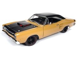 Autoworld オートワールド 1/18 ミニカー ダイキャストモデル 1969.5年モデル ダッジ Super Bee バタースコッチブラウン ブラックルーフ1969/5 Dodge Coronet Six Pack