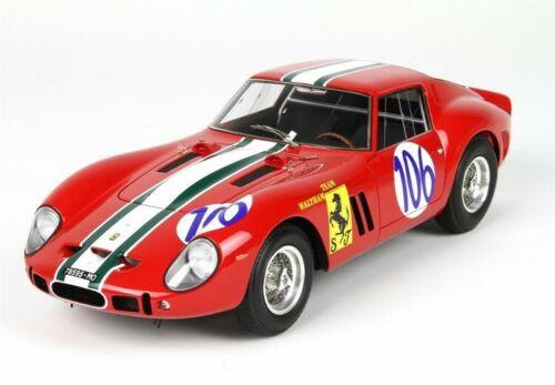 BBR 1/18 ミニカー レジン プロポーションモデル 1963年Targa Florio フェラーリ 250 GTO Coupe No.106FERRARI - 250 GTO COUPE ch.3809 N 106 TARGA FLORIO 1963 K.VON CSAZY - HEDGES 1:18 BBR