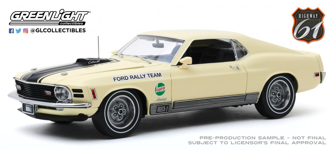 Highway 61 1/18 ミニカー ダイキャストモデル 1970年SCCA フォードマスタング Mach1 1970 Ford Mustang Mach 1 - Competition Limited Team - SCCA Manufacturer's Road Rally Championship 1:18 Highway 61