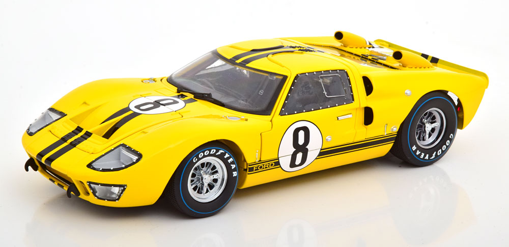 Shelby Collectibles 1/18 ミニカー ダイキャストモデル 1966年ルマン24時間 フォード GT40 MKII No.8FORD USA - GT40 MK II COUPE TEAM ALAN MANN RACING LTD N 8 24h LE MANS 1966 J.WHITMORE - F.GARDNER 1:18 Shelby Collectibles