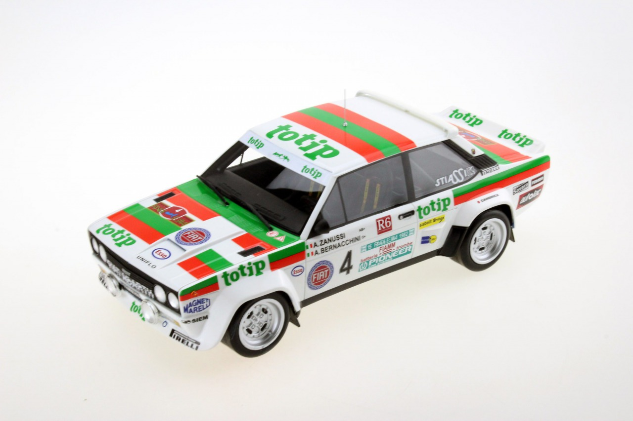 Top Marques トップマルケス 1/18 ミニカー レジン プロポーションモデル 1982年 Rally D'Elba フィアット 131 アバルト No.4FIAT - 131 ABARTH TOTIP N 4 RALLY D'ELBA 1982 A.ZANUSSI - A.BERNACCHINI 1:18 Top Marques