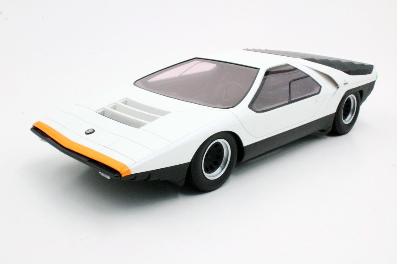 Top Marques トップマルケス 1/18 ミニカー レジン プロポーションモデル 1968年コンセプトモデル アルファロメオ Carabo Bertone ホワイトALFA ROMEO - CARABO BERTONE 1968 1:18 Top Marques