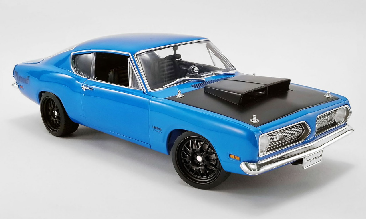 ACME 1/18 ミニカー ダイキャストモデル 1969年モデル プリムス バラクーダ Street Fighter ブルー1969 PLYMOUTH BARRACUDA STREET FIGHTER 1:18 Petty Blue by ACME
