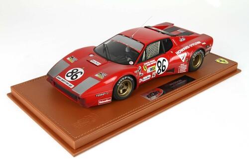 BBR 1/18 ミニカー レジン プロポーションモデル1978年ルマン24時間 フェラーリ 365 GT4/BB 4.9L Team N.A.R.T. No.86FERRARI - 365 GT4/BB 4.9L TEAM N.A.R.T. N 86 24h LE MANS 1978 F.MIGAULT - L.GUITTENY 1:18 BBR