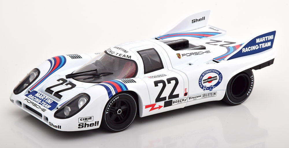 CMR 1/18 ミニカー ダイキャストモデル 1971年ルマン24時間優勝モデル ポルシェ 917K Team Martini Racing No.22 PORSCHE - 917K TEAM MARTINI RACING N 22 WINNER 24h LE MANS 1971 H.MARKO G.VAN-LENNEP 1:18 CMR