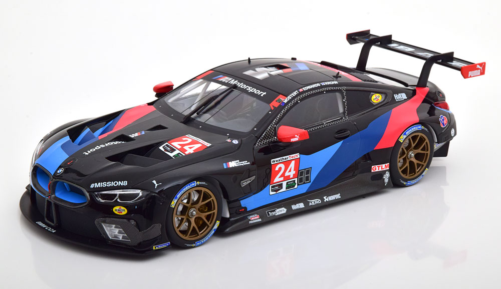 Minichamps ミニチャンプス 1/18 ミニカー ダイキャストモデル 2018年ルマン24時間 BMW M8 GTE 4.0 Twin Turbo V8 No.24BMW - 8-SERIES M8 GTE 4.0L TWIN-TURBO V8 TEAM BMW RLL N 24 3rd CLASS 24h LE MANS 2018 J.EDWARDS - J.KHRON - C.MOSTER 1:18 Minichamps