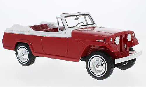 BoS Models 1:18スケール レジン・プロポーションモデル 1970年モデル ジープ Jeepster Commndo1970 Jeep Jeepster Commando Convertible Red by BoS (Best of Show) Models in 1/18 scale.