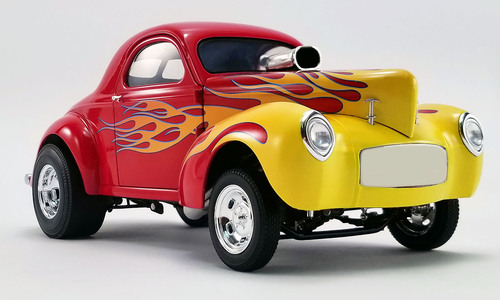 ACME 1/18 ミニカー ダイキャストモデル 1941年モデル Gasser レッド1941 GASSER - RED WITH FLAMES 1:18 ACME