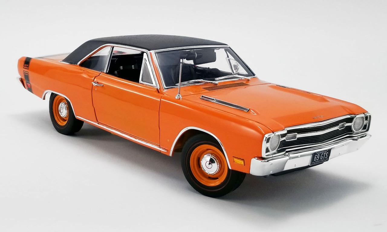 ACME 1/18 ミニカー ダイキャストモデル 1969年モデル ダッジ ダート GTS 440 オレンジカラー Black Vinyl Top1969 DODGE DART GTS 440 - VINYL TOP 1:18 orange by ACME