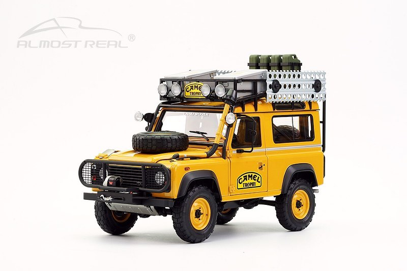 Almost Real 1/18 ミニカー ダイキャストモデル 1985年キャメルトロフィー ボルネオ ランドローバー 901985 Camel Trophy Borneo Land Rover 90 1:18 Almost Real