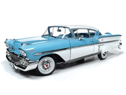 Autoworld 1/18 ミニカー ダイキャストモデル 1958年モデル シボレー ベルエア Impala カシミヤブルー1958 Chevrolet Bel Air Impala Cashmere Blue and Cream 1/18 Diecast Model Car by Autoworld