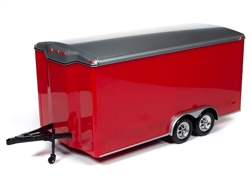 Autoworld オートワールド 1/18 ダイキャストモデル トレーラーFour Wheel Enclosed Trailer Black w/Silver Top for 1/18 Scale Model Cars by Autoworld