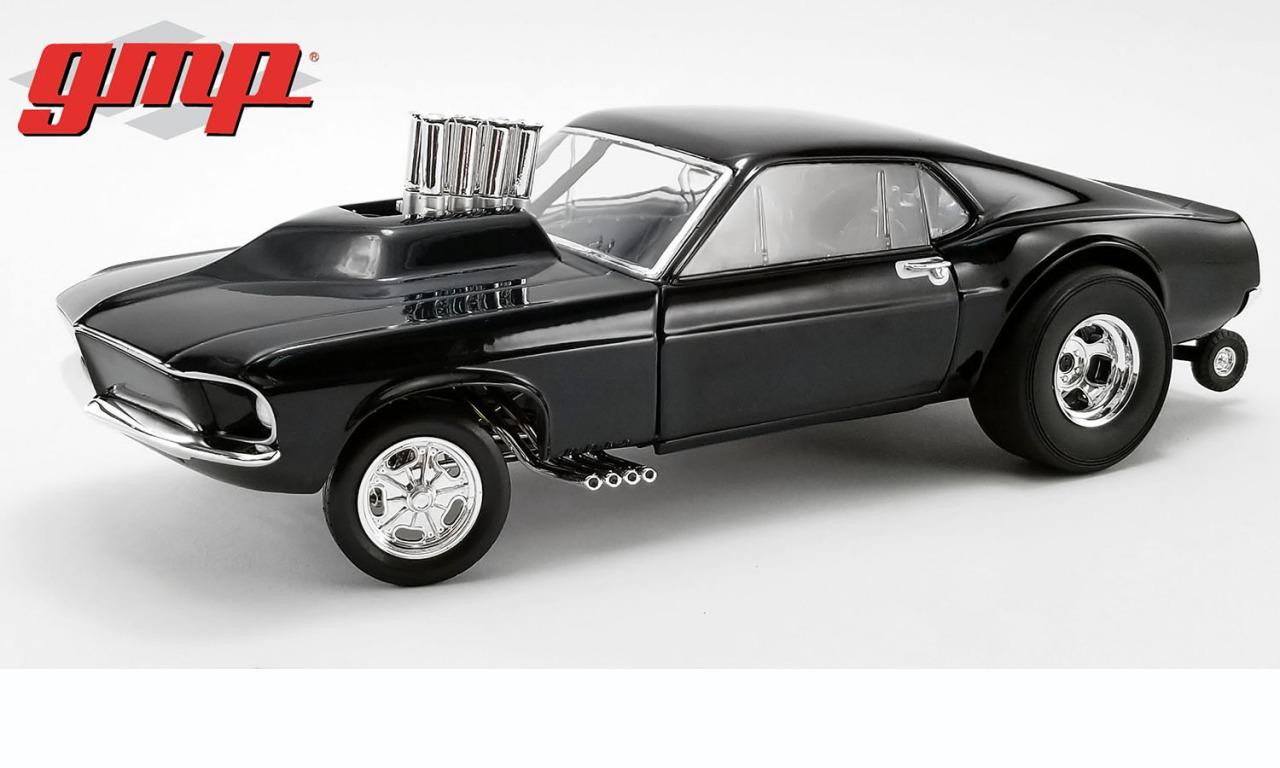 GMP 1/18 ミニカー ダイキャストモデル 1969年モデル マスタング Gasser Show Stopper Triple Gloss Black ブラック1969 MUSTANG GASSER - SHOW STOPPER 1:18 Triple Gloss Black by GMP