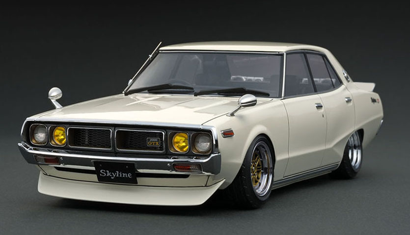 Ignition Model イグニッションモデル 1/18 ミニカー レジン プロポーションモデル 1973年モデル 日産 スカイライン 2000 GT-X GC110 1973 Nissan Skyline 2000 GT-X GC110 1:18 Ignition Model