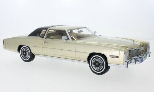BoS Models GM Cadillac Division ライセンス商品 BOS Models 1/18 ミニカー レジン プロポーションモデル 1976年モデル キャディラック エルドラド ライトゴールド1976 Cadillac Eldorado Light Gold with Black Roof by BoS Models