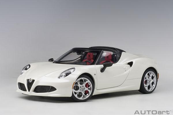 AUTOart オートアート 1/18 ミニカー コンポジットダイキャストモデル 2015年モデル アルファロメオ 4C Spider2015 Alfa Romeo 4C Spider 1/18 by AUTOart