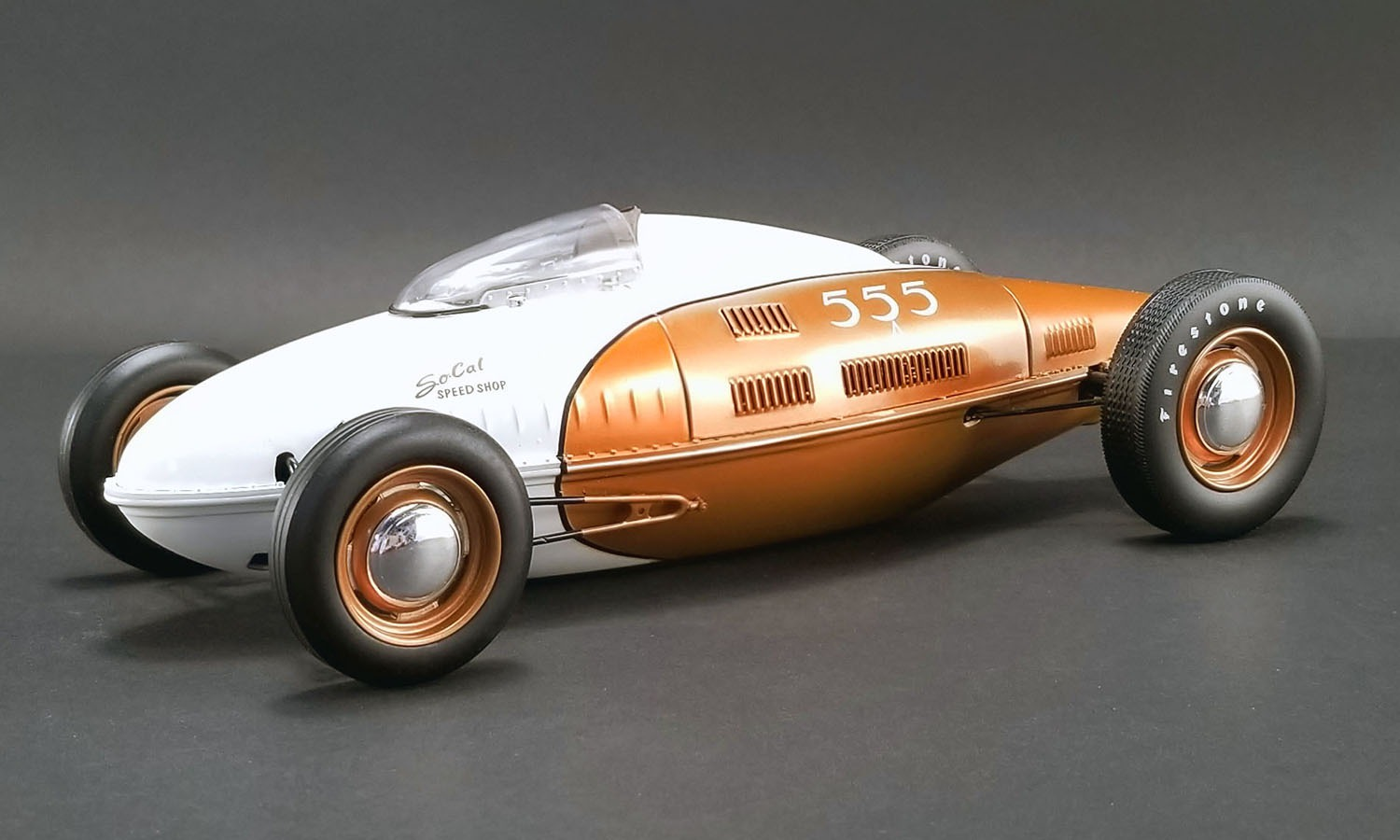 ACME 1/18 So Cal Speed Shop *555* Belly Tanker with all New Wheel Tooling.
