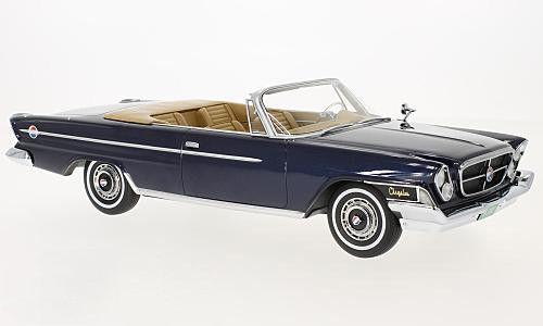 BoS 1:18スケール レジン・プロポーションモデル 1962年モデル クライスラー 300H コンバーティブル ダークブルーメタリック1962 Chrysler 300H Convertible Dark Blue Metallic by BoS Models LE of 504 1/18 NEW