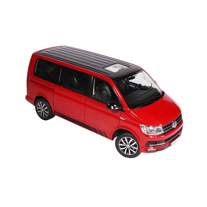 NZG 1:18スケール ダイキャストモデル 2017年モデル フォルクスワーゲン T6 Multivan Edition 30 レッド2017 Volkswagen VW T6 Multivan Edition 30 red 1:18 NZG