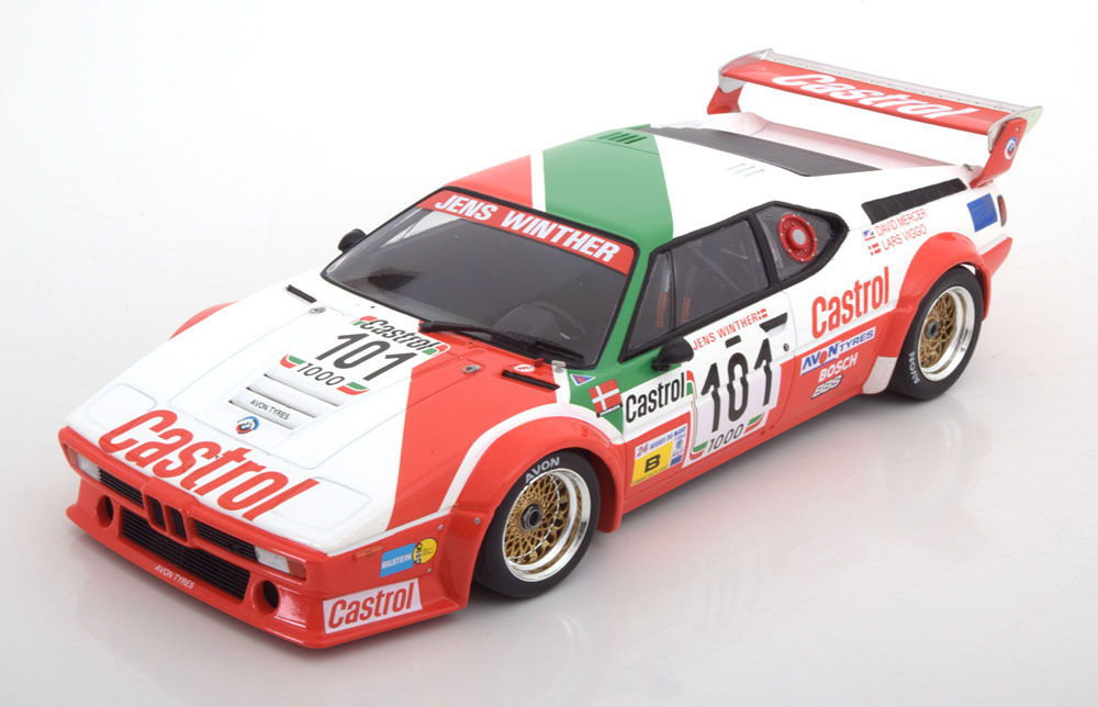 Minichamps 1:18スケール ダイキャストモデル 1984年ルマン24時間優勝 BMW M1 No.101BMW - M1 TEAM JENS WINTHER RACING TEAM N 101 24h LE MANS 1984 J.WINTHER - D.MERCER - L.V.JENSEN 1/18 by Minichamps NEW