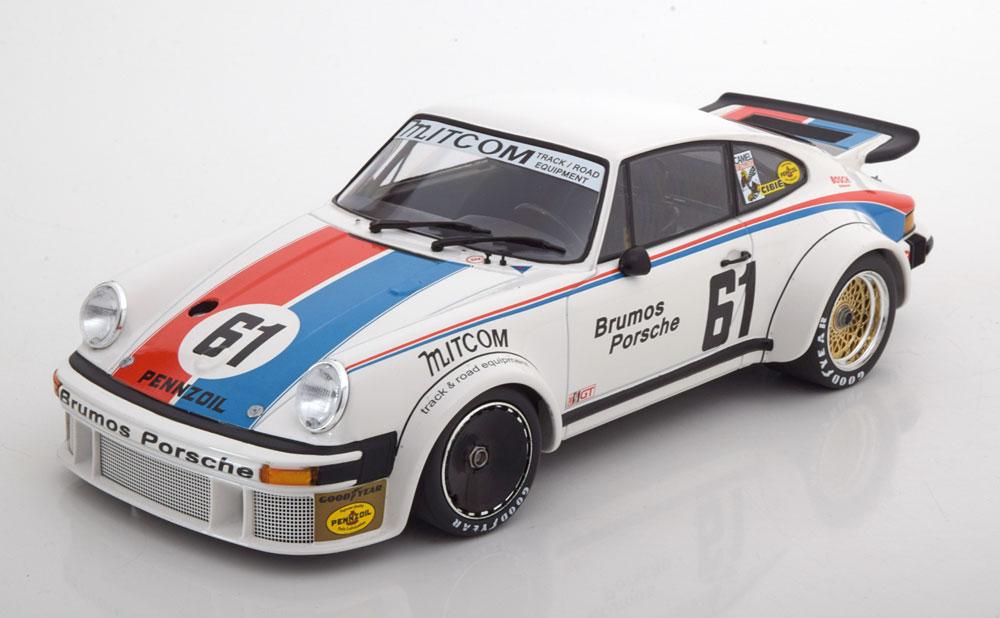 Minichamps 1:18スケール ダイキャストモデル 1977年デイトナ24時間 ポルシェ 934 RSR Turbo No.61PORSCHE - 934 RSR TURBO TEAM BRUMOS PORSCHE N 61 24h DAYTONA 1977 J.BUSBY - P.GREGG 1/18 by Minichamps ミニチャンプス