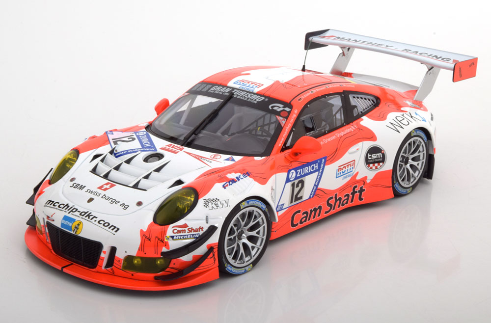 Minichamps 1:18スケール ダイキャストモデル 2017年ニュルブルクリンク ポルシェ 911 991 GT3 R No.12PORSCHE - 911 991 GT3 R TEAM MANTHEY RACING N 12 NURBURGRING 2017 O.KLOHS - R.RENAUER - M.JAMINET -M.CAIROLI 1/18 by Minichamps ミニチャンプス