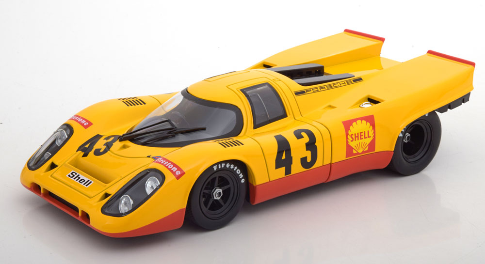 Norev 1:18スケール ダイキャストモデル 1970年1000KM SPA ポルシェ 917K No.4300Porsche 917K #43 5th 1000km Spa 1970 Laine, van Lennep 1:18 Norev NEW