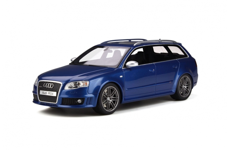 Otto Mobile 1:18スケール レジン・プロポーションモデル 2005年モデル アウディ RS4 B7 ブルーメタリック2005 Audi RS4 B7 1/18 Sepang Blue by Otto Mobile